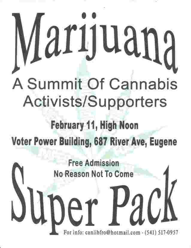 Don't miss Eugenes own Marijuana Super PAC!